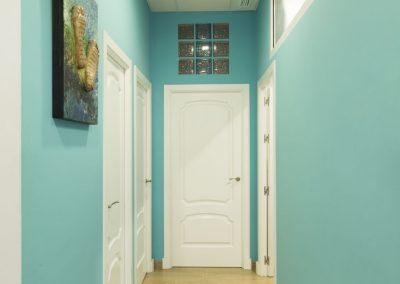 Zona pasillos de la clínica del pie Báez